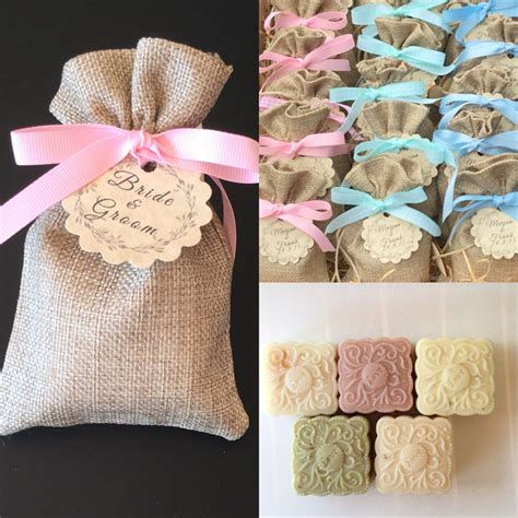 Baby Shower Favors Shopping by 50 Soap Burlap Bag Wedding Favors Baby Shower Soap