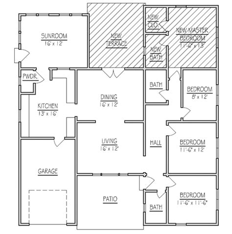 home addition blueprints house addition plans addition to mobile home plans the in