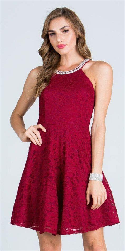 burgundy beaded dress burgundy lace beaded neck cocktail dress keyhole