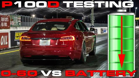 tesla pd ludicrous testing   mph  battery state