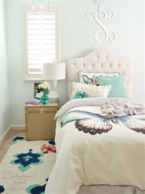 butterfly bedroom girl s room corner centsational style