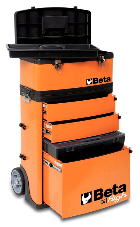 Beta Tool Cabinet by Beta Tools C41h Mobile Two Module Tool Box Chest Trolley