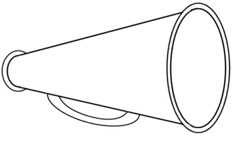 Cheer Megaphone Template cheer megaphone coloring page coloring pages