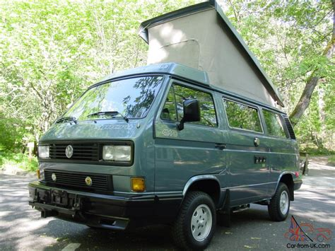 volkswagen vanagon blue over 34k invested 4wd vanagon gl van with working ac