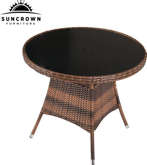 Wicker Dining Table Set Suncrown 5 Wicker Outdoor Dining Set With 35 Quot Table Patio Table