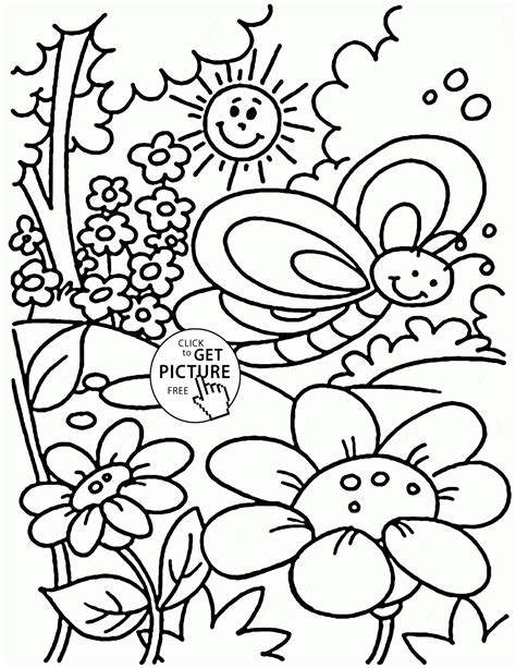 spring coloring pages toddlers spring coloring pages toddlers coloring home