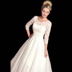 Tea length wedding dresses with sleeves memory dress