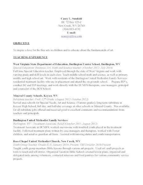 Public Health Resume Sample by Art Teacher Resume Experienced Photographer Art Jobs