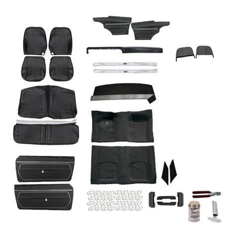 camaro upholstery kits standard complete black interior kit 1969 camaro conv