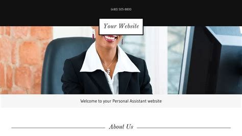 Personal Assistant Website Templates Godaddy Assistant Website Template