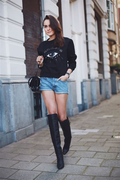 shorts with boots andy torres creative style of wearing knee high boots