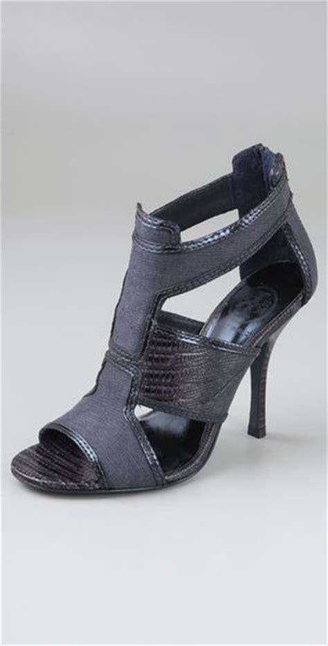 navy high sandals burch geoff high heel sandals in blue navy lyst