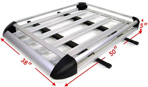 Aluminum Roof Rack by Aluminum Silver Roof Basket Cargo Carrier Luggage Rack Car