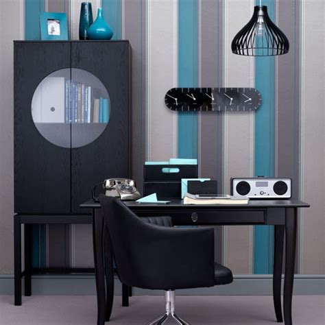home office wallpaper sophisticated teal modern office home office