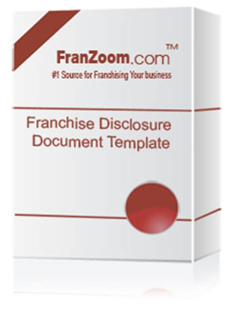 Ftc Compliant Franchise Disclosure Document Fdd Template Franchise Fdd Template