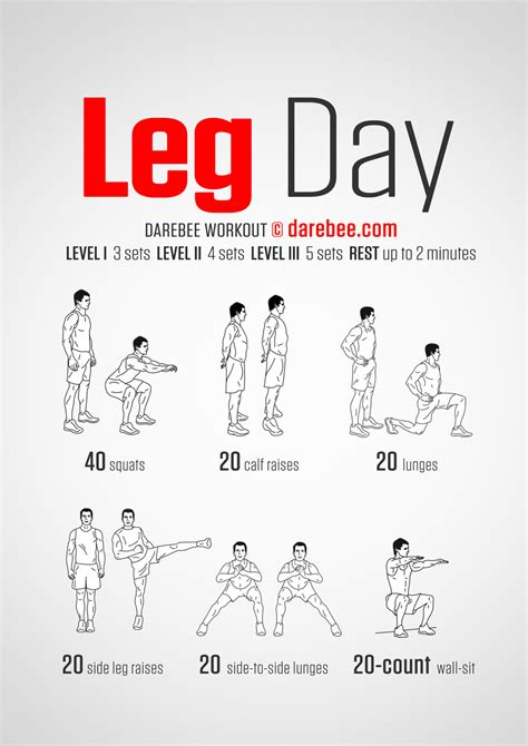 Leg Exercises At Home by Leg Day Darebee Workout Well It S A Start But I