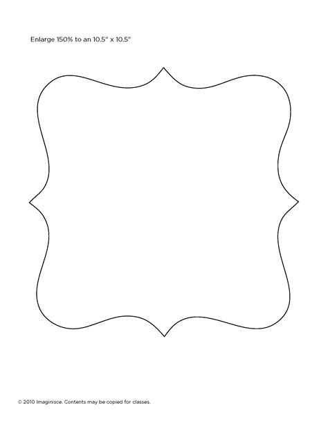 shape templates for scrapbooking template for picture frame manualidades