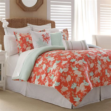 coral queen bedding 15 pc nautica dana point queen comforter set sheet euro
