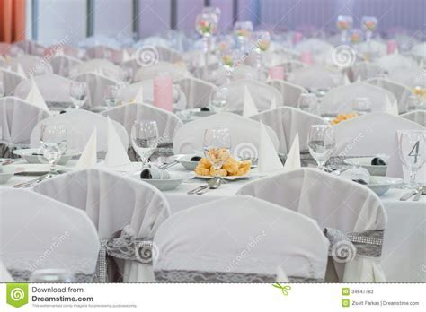 Elegant Table Setting For Wedding Stock Image   Image of