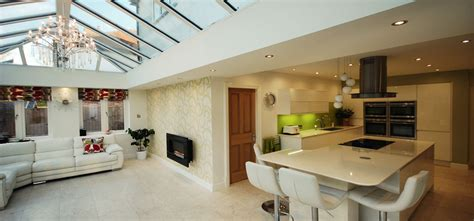 kitchen extensions in the form of conservatory or