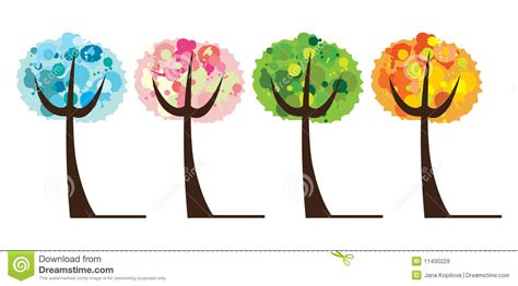 vector royalty free stock images image 2183529 vector set of tree 4 season royalty free stock images image 11430229