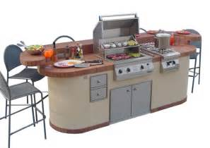 outdoor kitchen island 6 fabulous prefab outdoor kitchen grill islands