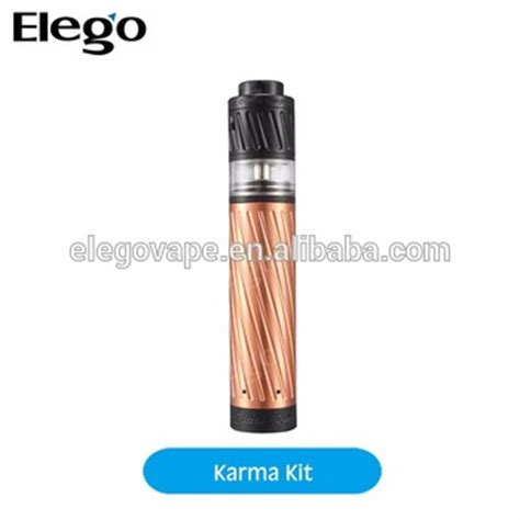 Rdta Karma Authentic authentic geekvape karma starter kit with a polished copper mechanical mod and a two rdta rda