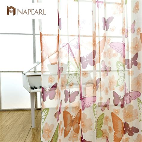 butterfly bedroom curtains butterfly curtains tulle fabrics bedroom sheer panel voile