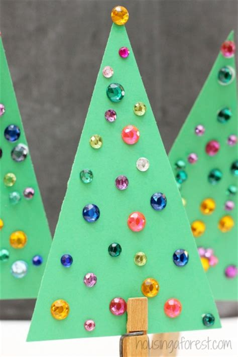 jeweled christmas tree craft for kids housing a forest