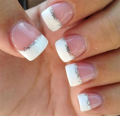 Best 25  Sparkle french manicure ideas on Pinterest