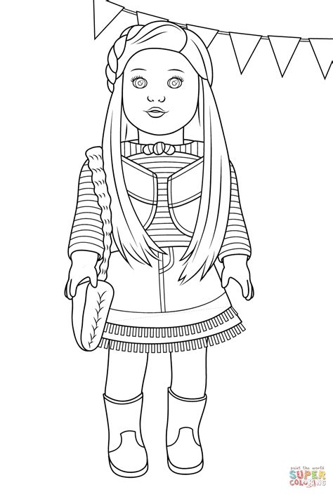 free coloring pages of american girl dolls american girl mckenna coloring page free printable