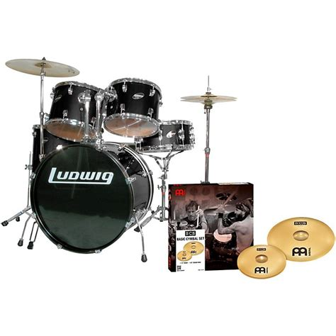 Cahon Akustik Drum Bok New ludwig accent combo 5 drum set with meinl cymbals musician s friend