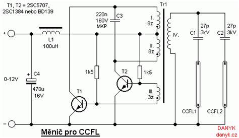 Ccfl Inverter Circuit Diagram měnič pro ccfl