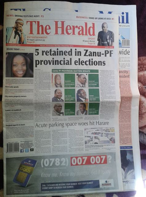 about zimpapers the herald the herald newspaper gets a facelift creative loop