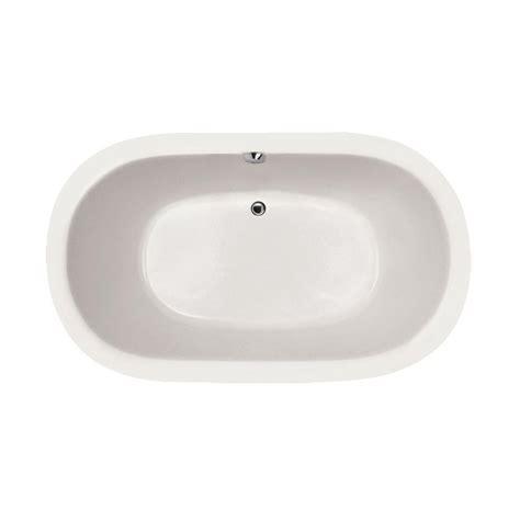 center drain bathtubs hydro systems studio hourglass 5 ft center drain bathtub in biscuit shg6042atob the