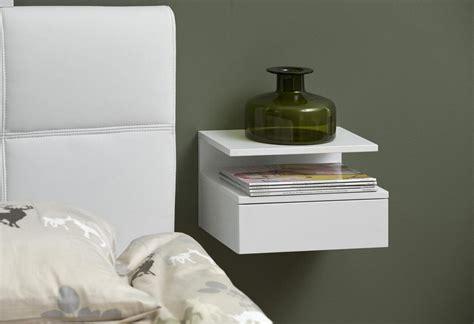nachtschrank wandmontage nachtkonsole weis hochglanz mit glasplatte beste