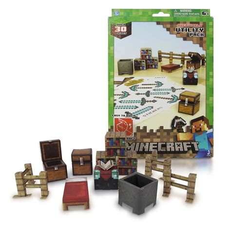 Minecraft Papercraft Utility Pack - minecraft utility pack 30p 231 s paper craft blocos montar