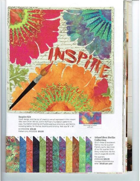 Quilting Catalogs by Keepsake Quilting Catalog Inspire Joann Hoffman S