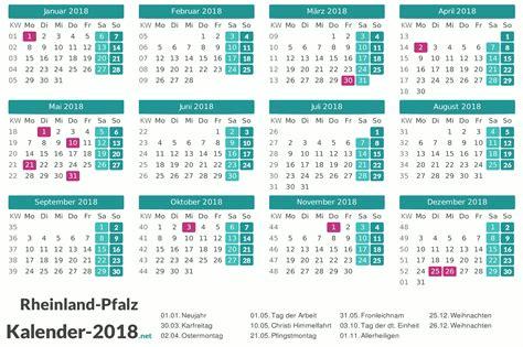 Kalender 2018 Mit Feiertagen Rheinland Pfalz Kalender 2018 Rheinland Pfalz