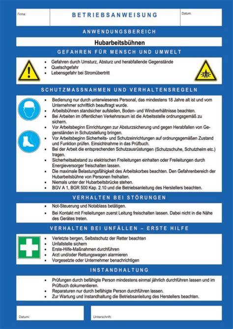 Betriebsanweisung Blau Vorlage Betriebsanweisungen Fr Gefahrstoffe Erstellen Wir Im Rahmen Des Betreuungskonzepts Fr Sie Auf