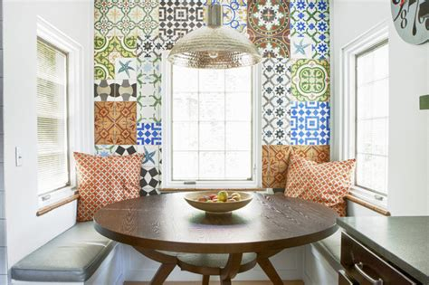 Design Tiles For Dining Wall Cuban Breakfast Nook Eclectic Kitchen Denver By
