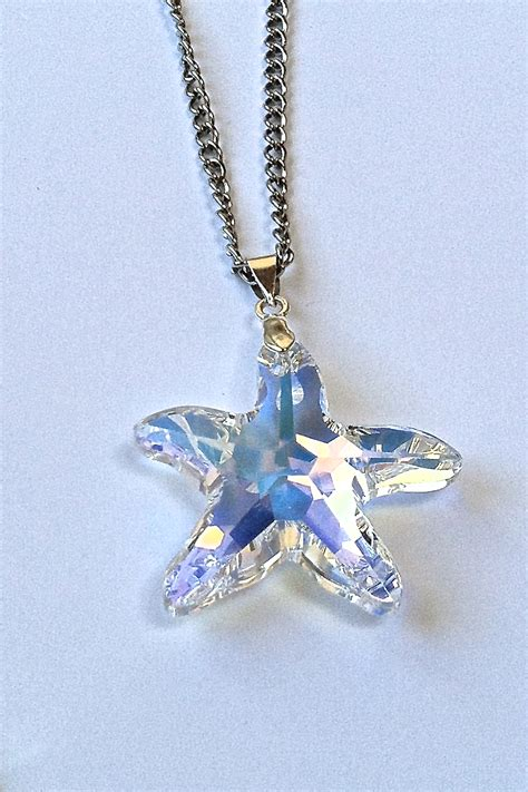 swarovski 28mm starfish pendant necklace