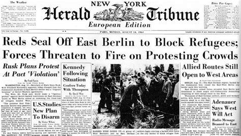 berlin wall newspaper 1961 newspaper headlines the berlin wall search
