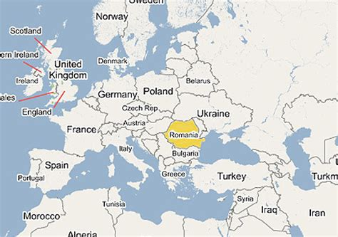 romania on the world map romania