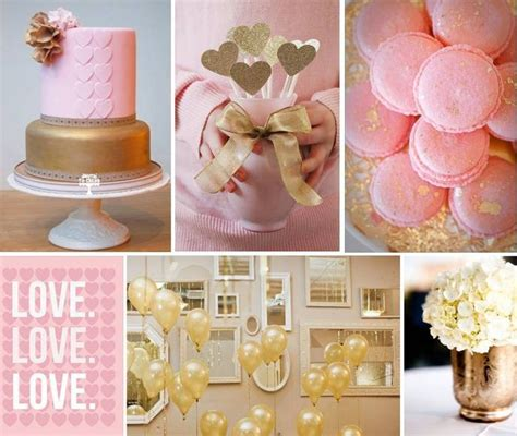 gold love themes pink gold baby love pretty theme for baby shower or
