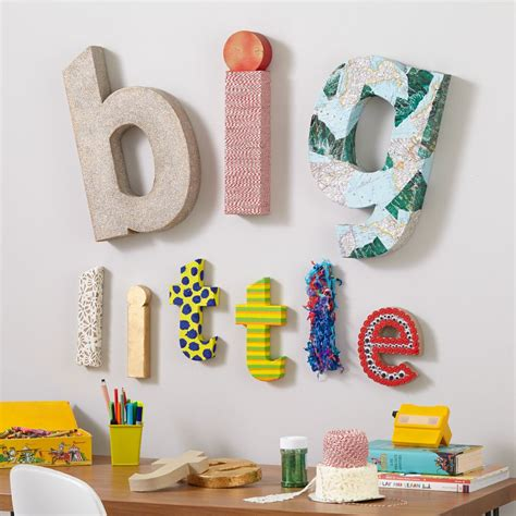 Paper Craft Letters - wall letters wooden wall letters the land of nod
