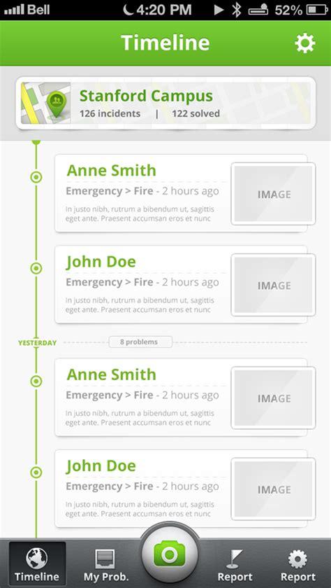 ios timeline app on behance
