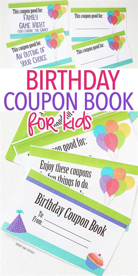 printable coupon template for birthday this printable birthday coupon book is the best gift for