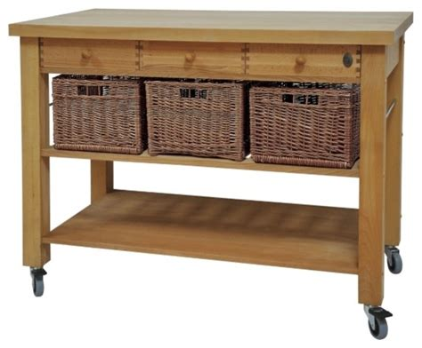 Kitchen Island Trolleys Lambourne Butcher S Trolley Traditional Kitchen Islands And Kitchen Carts Other Metro By