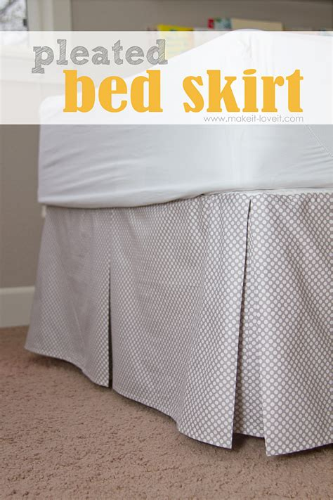 how to put on a bed skirt diy pleated bed skirt make it and love it